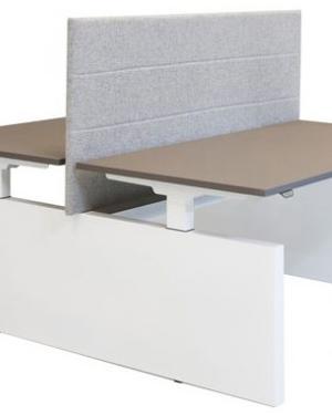 Huislijn Project duo bureau met zijwang (H-frame)